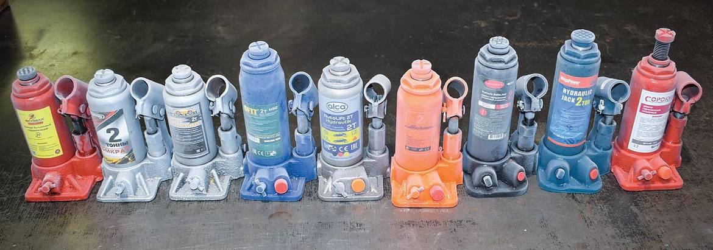 Тест бутылочных домкратов Skyway, FIT, «Автостоп», SkyBear, alca, AirLine, RockForce, MegaPower и «Сорокин»